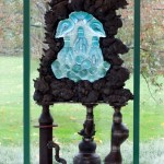 "MC REILEY, Phlogiston, 2010, Cast Iron, Glass, 80"" x 48.5"" x 38.75"""