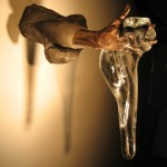 """MILES VAN RENSSELAER, Jari Jari Gelas [Glass Fingers], 2009, Cast Iron, Cast Bronze, Cast Schott Crystal, 22"""" x 12"""" x 8"""""""