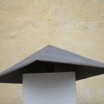 "BRUCE LINDSAY, Pyramid, 2012, Cast Iron, 10"" x 28"" x 28"""