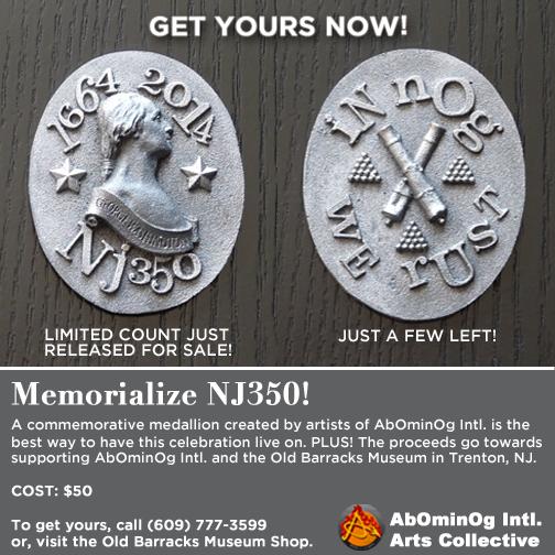 NJ350 Commemorative Medallions